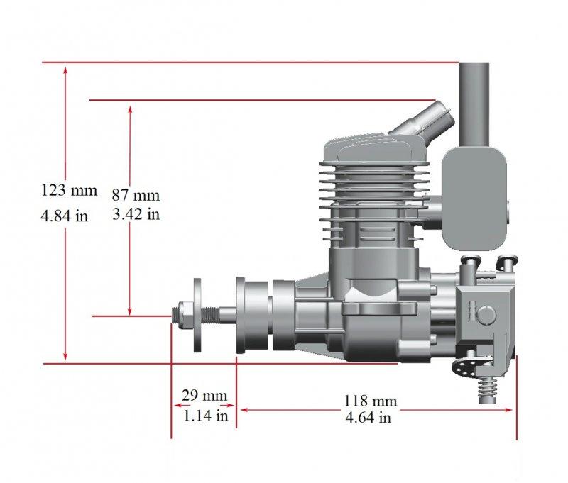 Image 8 of RCGF 10cc rear exhaust Stinger Gas Engine