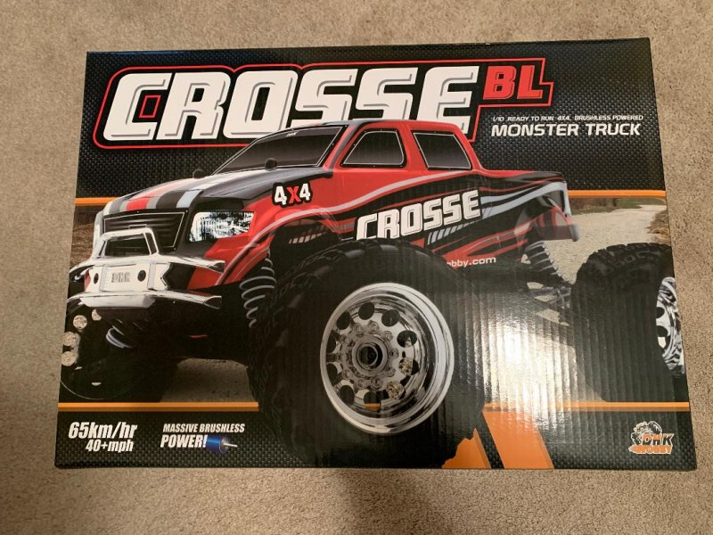 Image 0 of Crosse Brushless 1/10 4WD Monster Truck, Ready To Run, No Battery or Charger