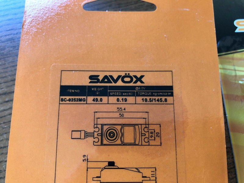 Image 2 of Lot of 6 Savox 0252MG STD DIGITAL SERVO .19/145 with/FREE 1.5
