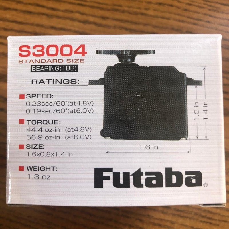 Image 2 of Futaba S3004 (Lot of 6) Standard Ball Bearing Servo .19sec/56.9oz @ 6V