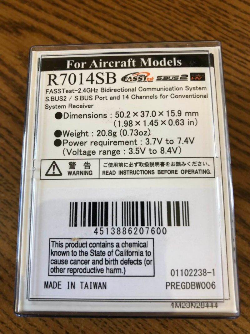 Image 1 of Futaba R7014SB 2.4GHz FASST S.Bus High Voltage Receiver
