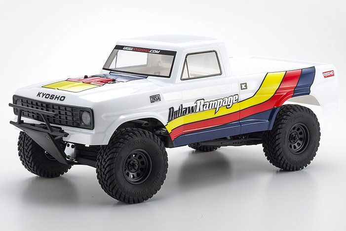 Image 0 of Kyosho Outlaw Rampage 1/10 2wd 2SRA Electric Truck, White, Readyset
