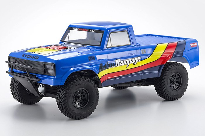 Image 0 of Kyosho Outlaw Rampage 1/10 2wd 2SRA Electric Truck, Blue, Readyset