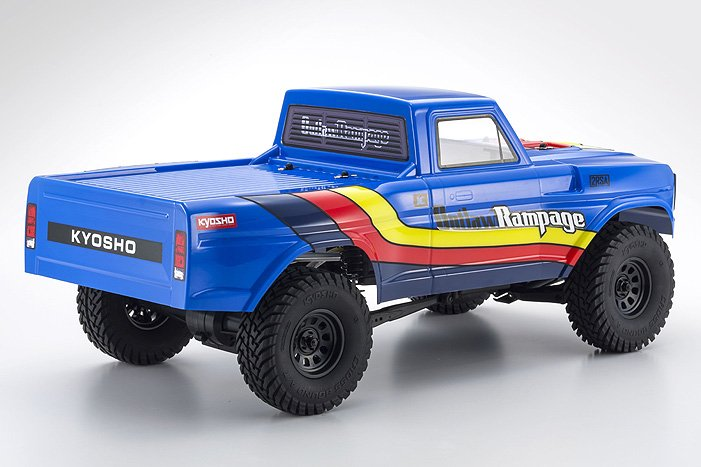 Image 1 of Kyosho Outlaw Rampage 1/10 2wd 2SRA Electric Truck, Blue, Readyset