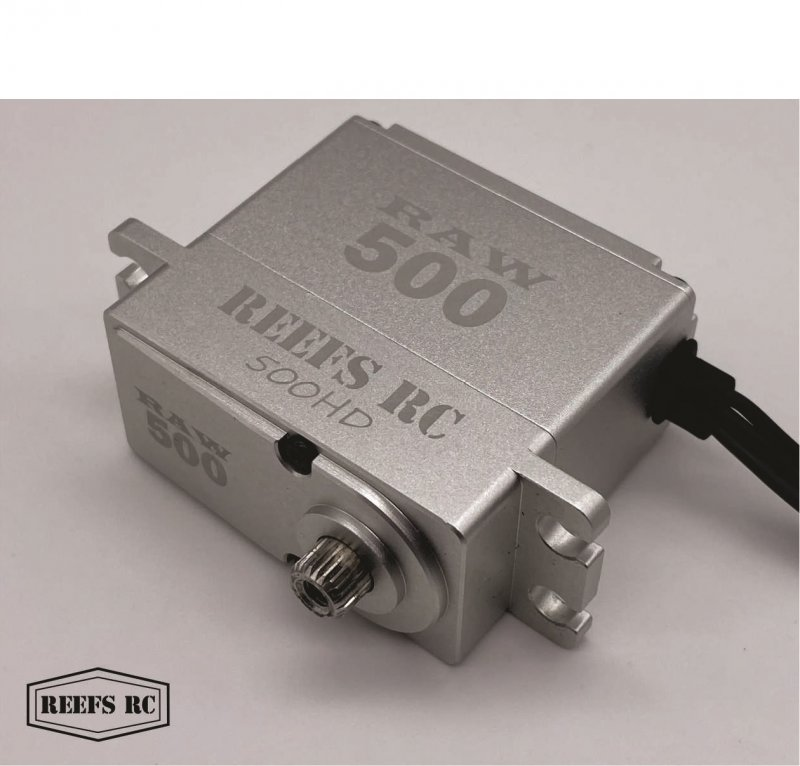 Image 2 of Reef Raw 500 High Torque High Speed HV Waterproof Brushless Servo .095/500 @7.4V