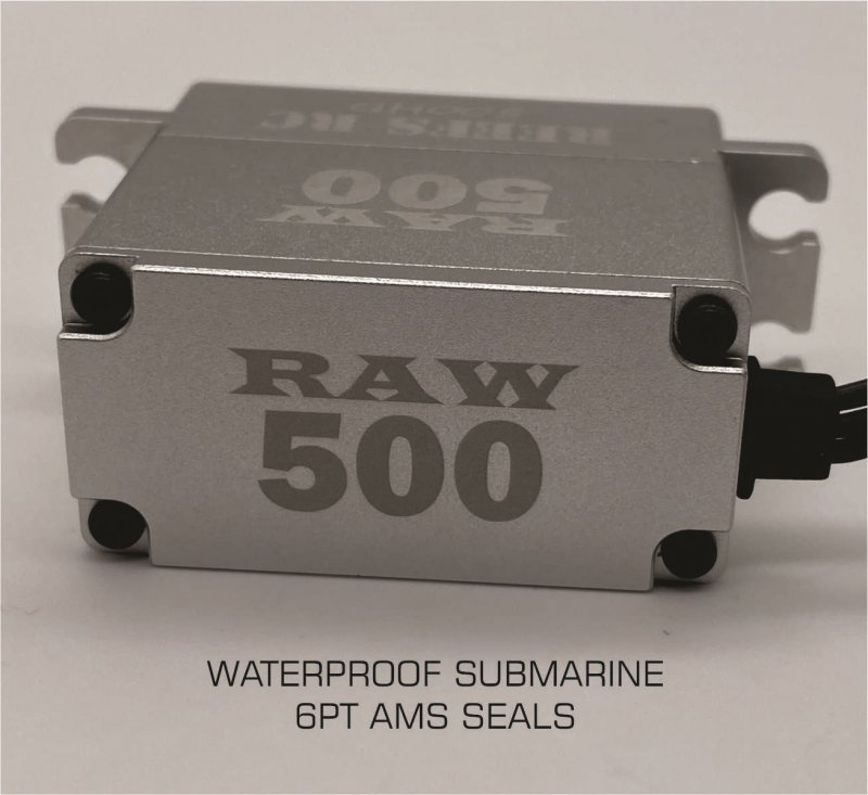 Image 4 of Reef Raw 500 High Torque High Speed HV Waterproof Brushless Servo .095/500 @7.4V