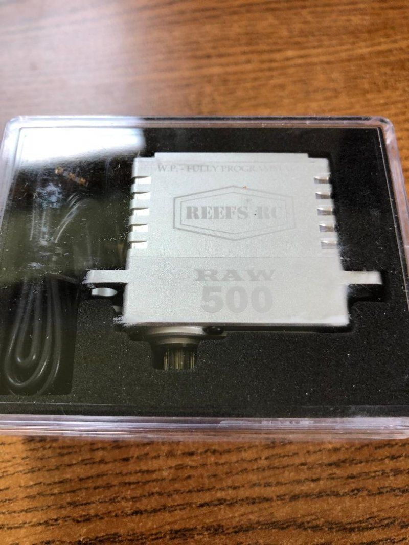 Image 0 of Reef Raw 500 High Torque High Speed HV Waterproof Brushless Servo .095/500 @7.4V