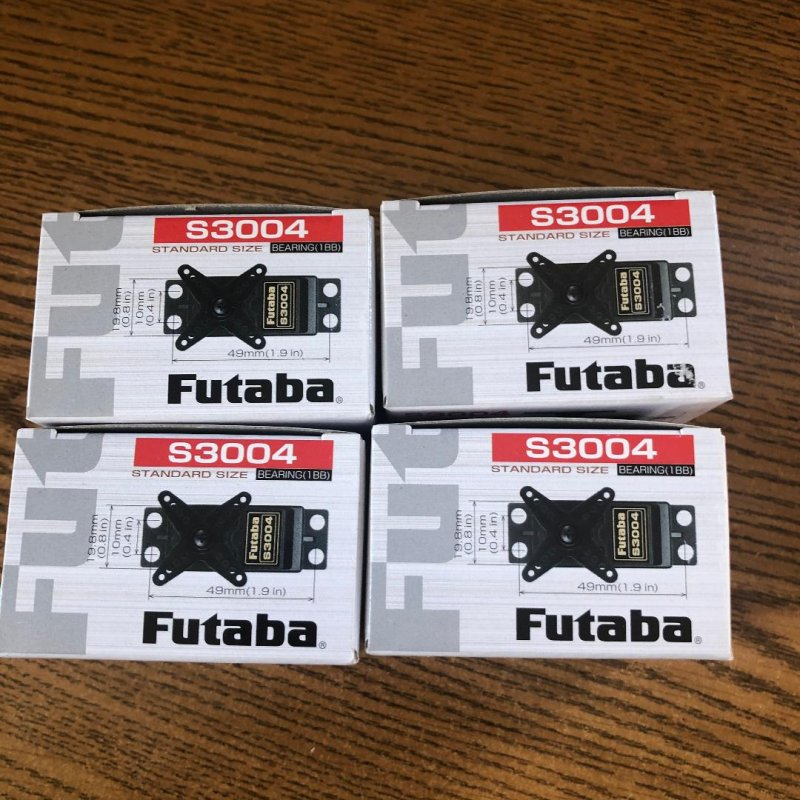 Image 0 of Futaba S3004 (Lot of 4) Standard Ball Bearing Servo .19sec/56.9oz @ 6V