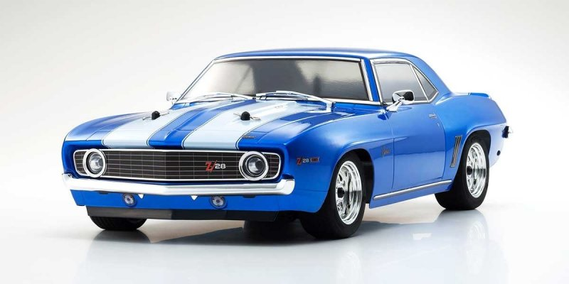 Image 0 of Kyosho 1/10 1969 Chevy Camaro Z28 RTR, w/ Le Mans Body, Blue