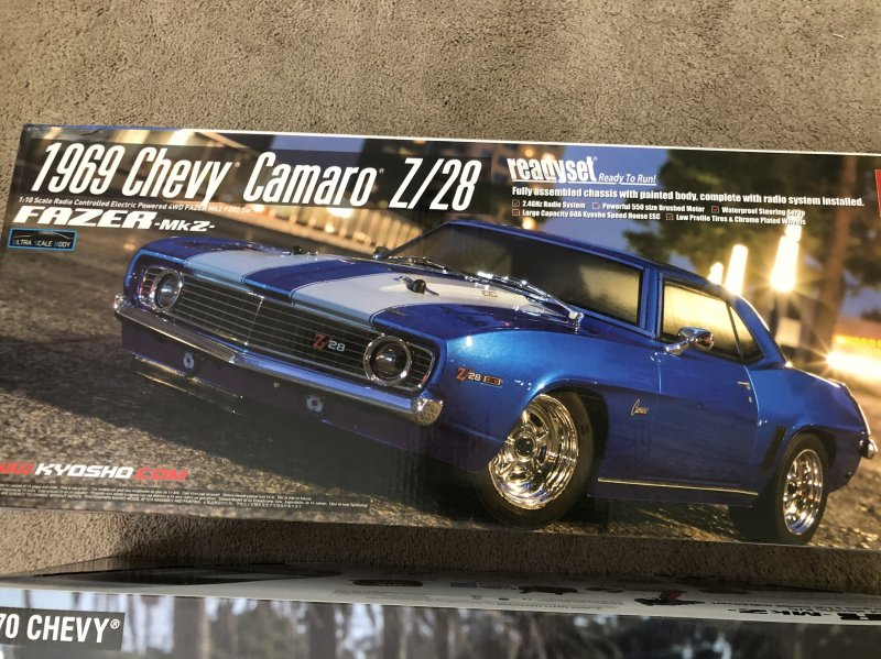 Image 4 of Kyosho 1/10 1969 Chevy Camaro Z28 RTR, w/ Le Mans Body, Blue