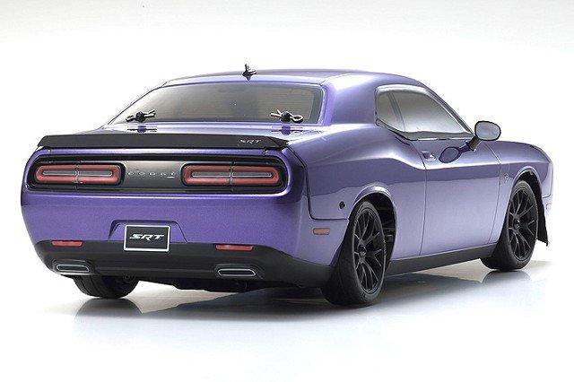 Image 1 of Kyosho 2015 Dodge Challenger Hellcat SRT RTR, Plum Crazy Purple, 1/10 Electric 4