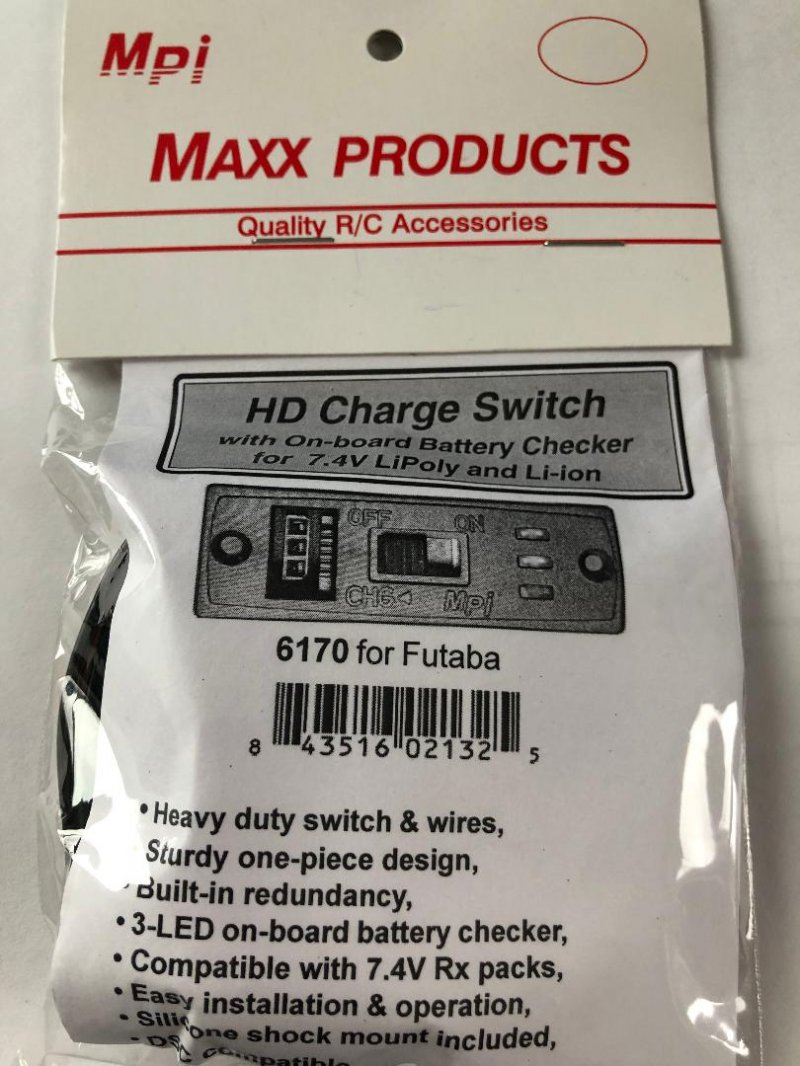 Image 0 of MPI HD Charge Switch with on-board battery checker for 7.4 Lipoly & Lion