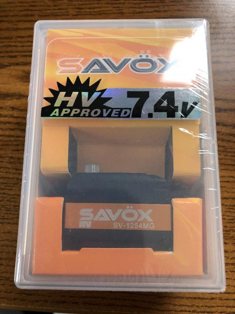 Image 0 of Savox 1254MG High Voltage Coreless Low Profile Digital Servo 0.085sec / 208