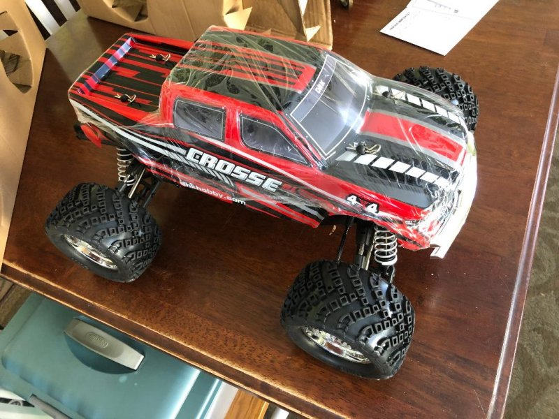 Image 1 of Crosse Brushless 1/10 4WD Monster Truck, Ready To Run, No Battery or Charger