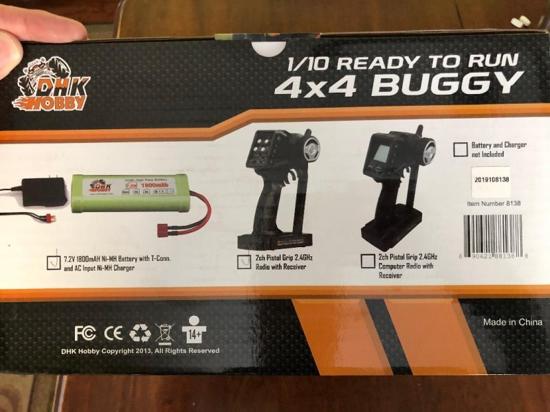 Image 1 of Wolf 2 Buggy RTR, 1/10 Scale, 4WD, w/ Battery, and Charger