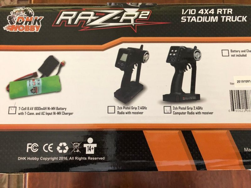 Image 1 of Raz-R 2 Truck RTR, 1/10 Scale, 4WD, w/ Battery and Charger