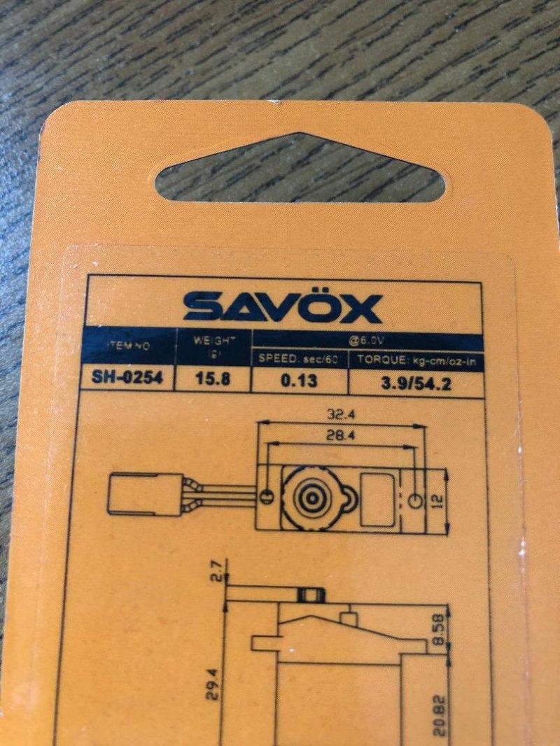 Image 1 of Savox 0254 Micro Digital Servo .13/54 @6V
