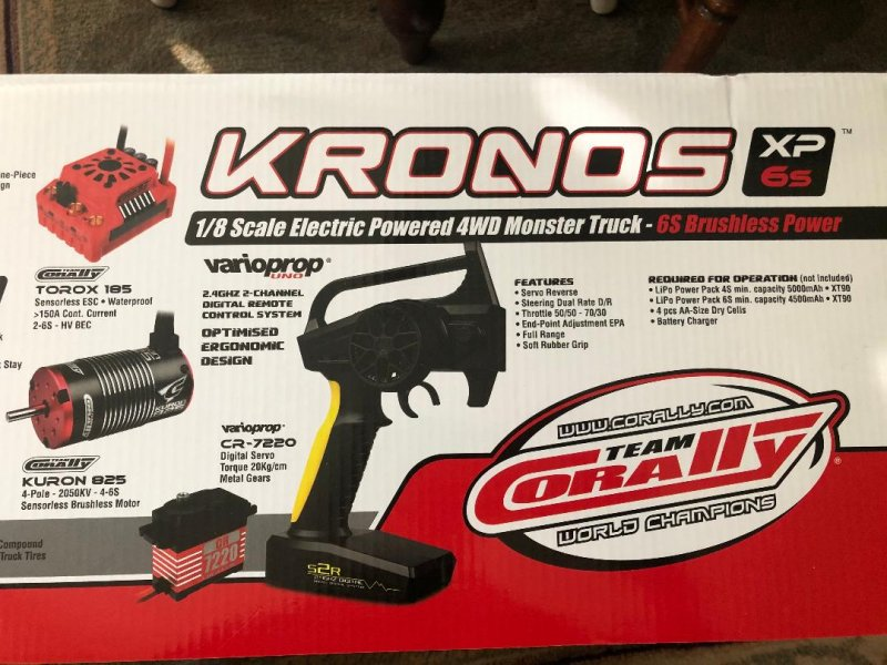 Image 5 of Corally 1/8 Kronos XP 4WD Monster Truck 6S Brushless RTR (No Battery or Charg