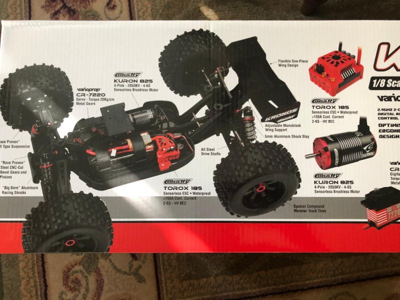Image 1 of Corally 1/8 Kronos XP 4WD Monster Truck 6S Brushless RTR (No Battery or Charg