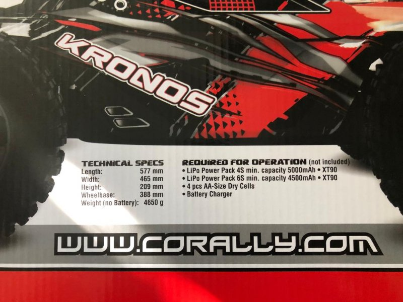 Image 3 of Corally 1/8 Kronos XP 4WD Monster Truck 6S Brushless RTR (No Battery or Charg