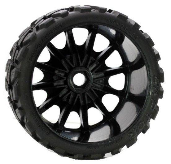 Image 3 of Raptor Belted Monster Truck Wheels/Tires (pr.), Pre-mounted, Sport Medium Compou