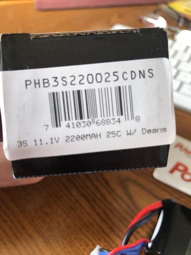 Image 1 of Power Hobby 3S 11.1V 2200MAH 25C Lipo Battery, w/ Deans Plug
