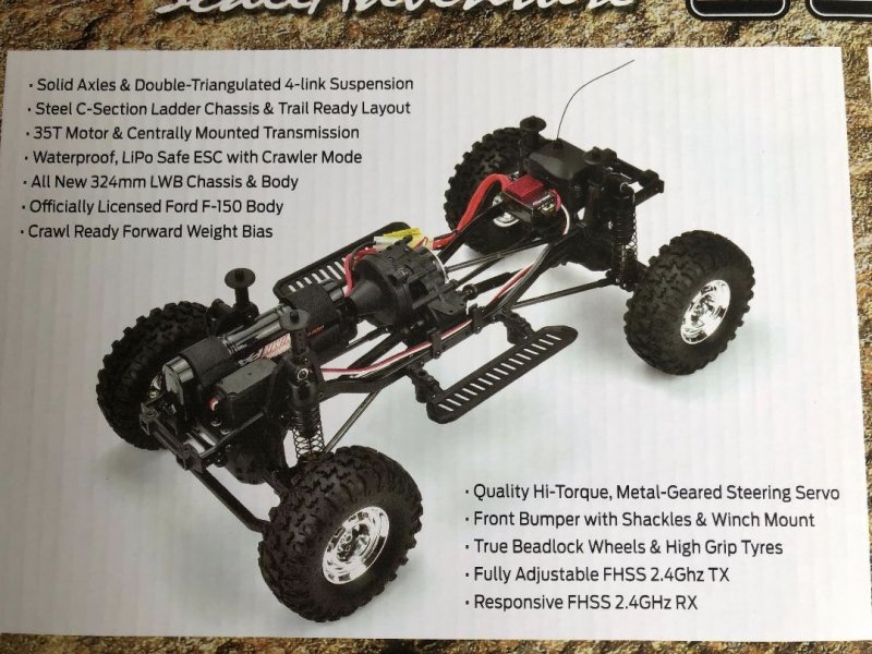 Image 11 of Carisma SCA-1E 1/10 '76 Ford F-150 4WD Scale Crawler RTR, (324mm Wheelbase) Oran