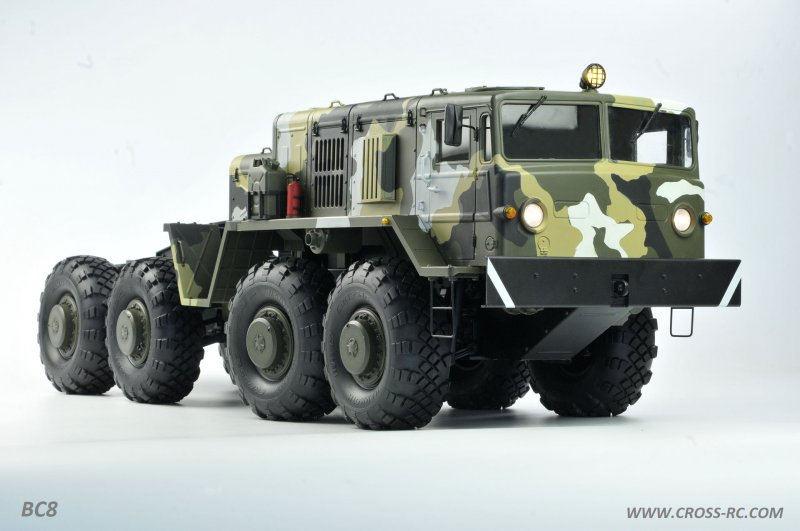 Image 0 of Cross r/c BC8 Mammoth 1/12 Scale 8x8 Off Road Military Truck Kit-Flagship Versio