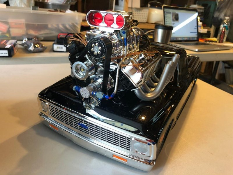 Image 0 of 1/10 1972 Chevy C10 Pickup Truck V-100 S 4WD Brushed RTR