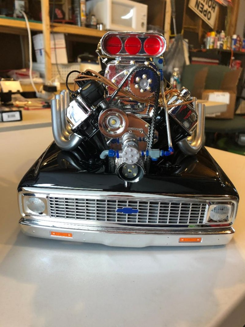 Image 1 of 1/10 1972 Chevy C10 Pickup Truck V-100 S 4WD Brushed RTR