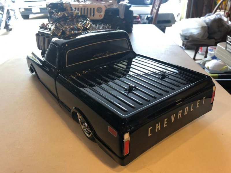 Image 4 of 1/10 1972 Chevy C10 Pickup Truck V-100 S 4WD Brushed RTR