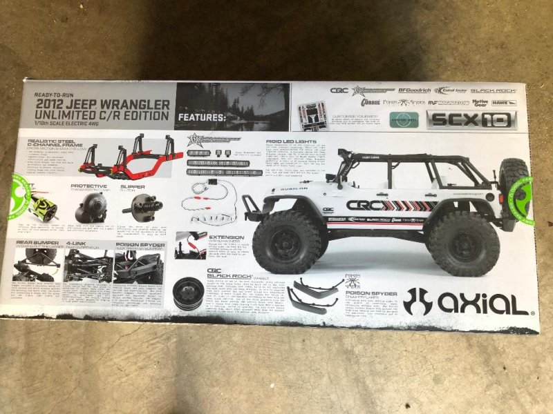 Image 11 of Axial 2012 Jeep Wrangler unlimited R/C edition crawler (many upgrades)