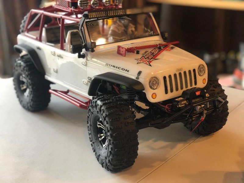 Image 0 of Axial 2012 Jeep Wrangler unlimited R/C edition crawler (many upgrades)