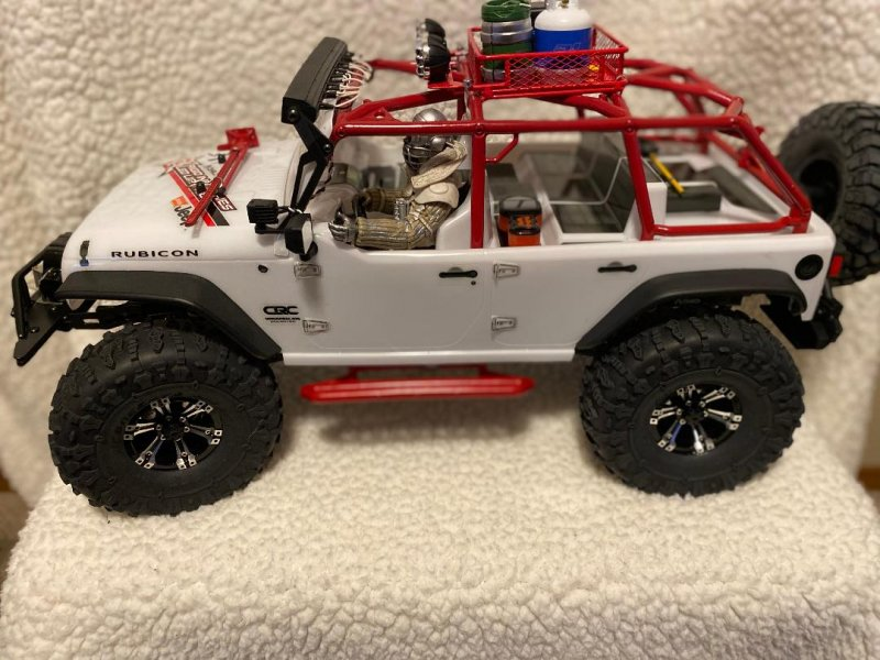 Image 1 of Axial 2012 Jeep Wrangler unlimited R/C edition crawler (many upgrades)