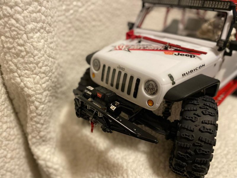 Image 2 of Axial 2012 Jeep Wrangler unlimited R/C edition crawler (many upgrades)