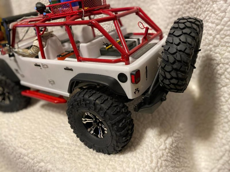 Image 4 of Axial 2012 Jeep Wrangler unlimited R/C edition crawler (many upgrades)