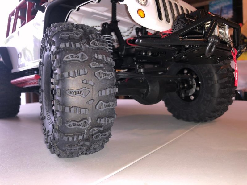 Image 6 of Axial 2012 Jeep Wrangler unlimited R/C edition crawler (many upgrades)