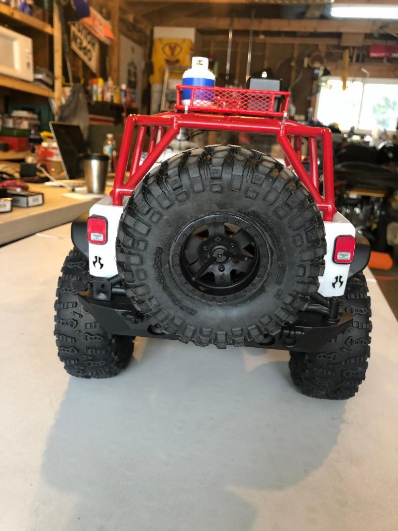 Image 7 of Axial 2012 Jeep Wrangler unlimited R/C edition crawler (many upgrades)