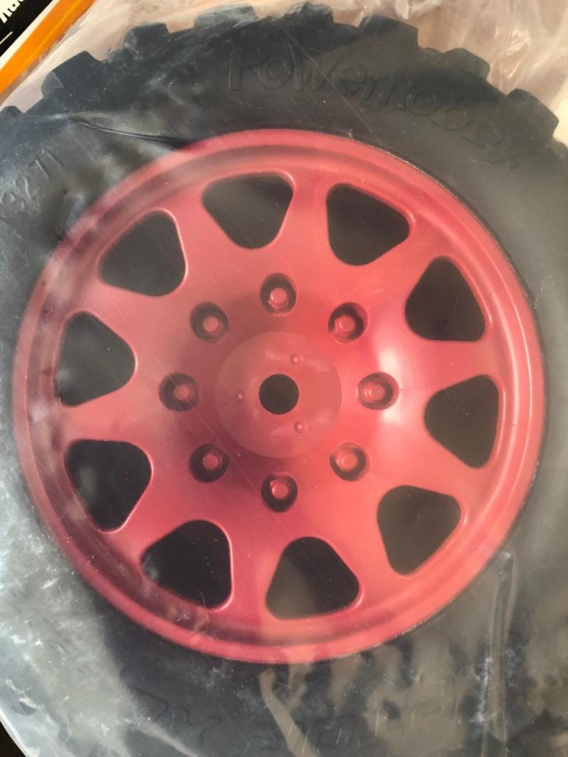 Image 1 of Powerhobby Raptor XL Belted Tires / Viper Wheels (2) Traxxas X-M PHBPHT3271RED