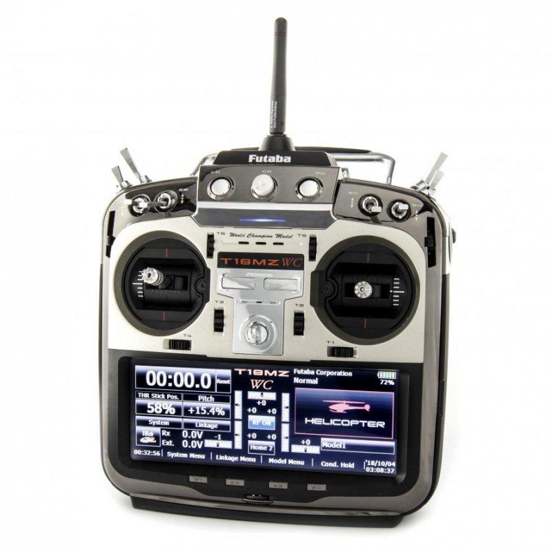 Image 3 of  Futaba 18MZA 2.4GHz FASST Aircraft Spec Radio System w/(2) R7008SB Receivers