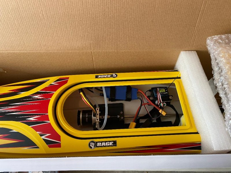 Image 1 of Rage Velocity 800 BL Brushless Deep Vee Offshore Boat, RTR