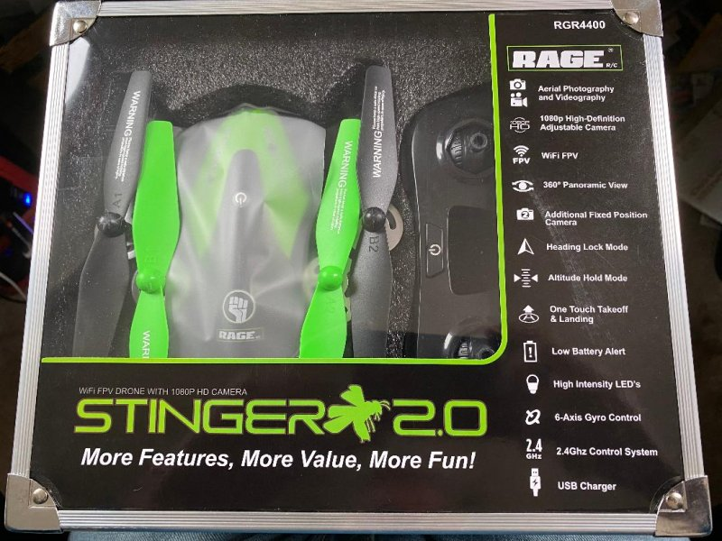 Image 0 of Rage Stinger 2.0 RTF WiFi FPV Drone w/1080p HD Camera