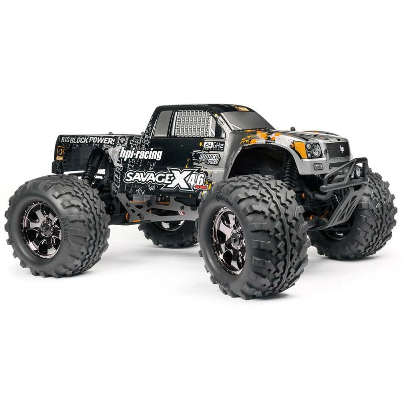 Image 1 of HPI SAVAGE X 4.6 Big Block RTR, Nitro Powered Monster Truck, 1/8 Scale, 4X4, w/