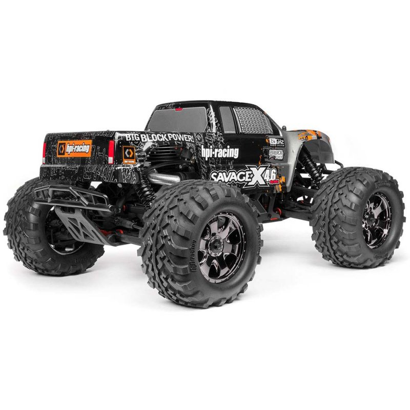Image 2 of HPI SAVAGE X 4.6 Big Block RTR, Nitro Powered Monster Truck, 1/8 Scale, 4X4, w/