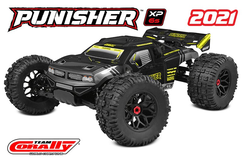 Image 0 of Corally Punisher XP 6S 1/8 Monster Truck LWB RTR Brushless