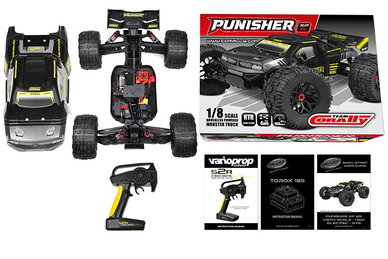 Image 4 of Corally Punisher XP 6S 1/8 Monster Truck LWB RTR Brushless