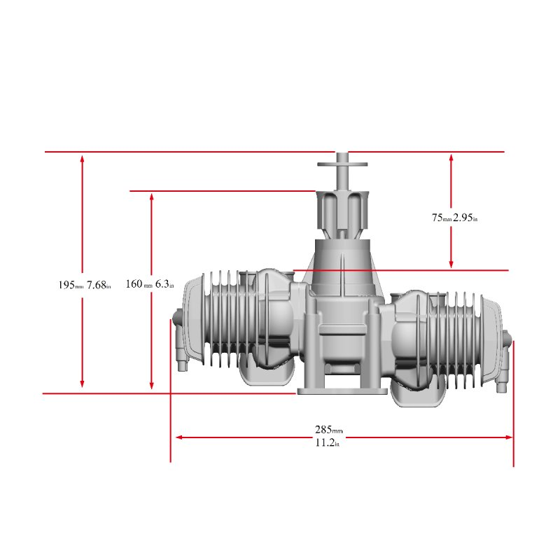 Image 3 of RCGF Stinger 125cc TWIN Gasoline model aircraft engine