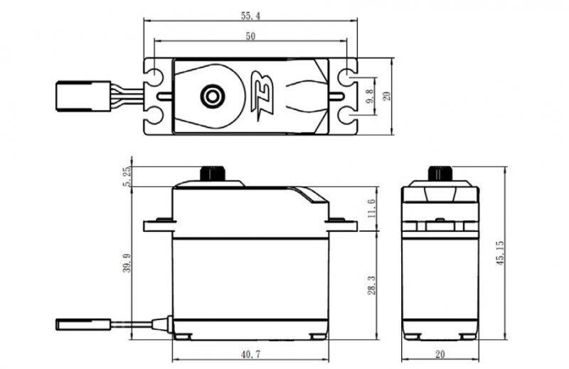 Image 3 of Savox Budget Analog Servo, .15 / 111on-in (8kg-cm) @6v, Standard Size, Metal Gea