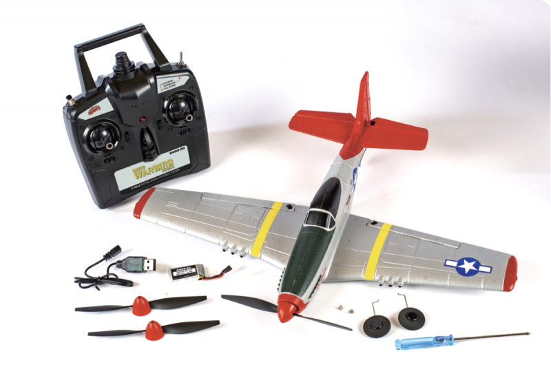 Image 2 of RAGE P-51D Mustang Micro RTF Airplane w/PASS