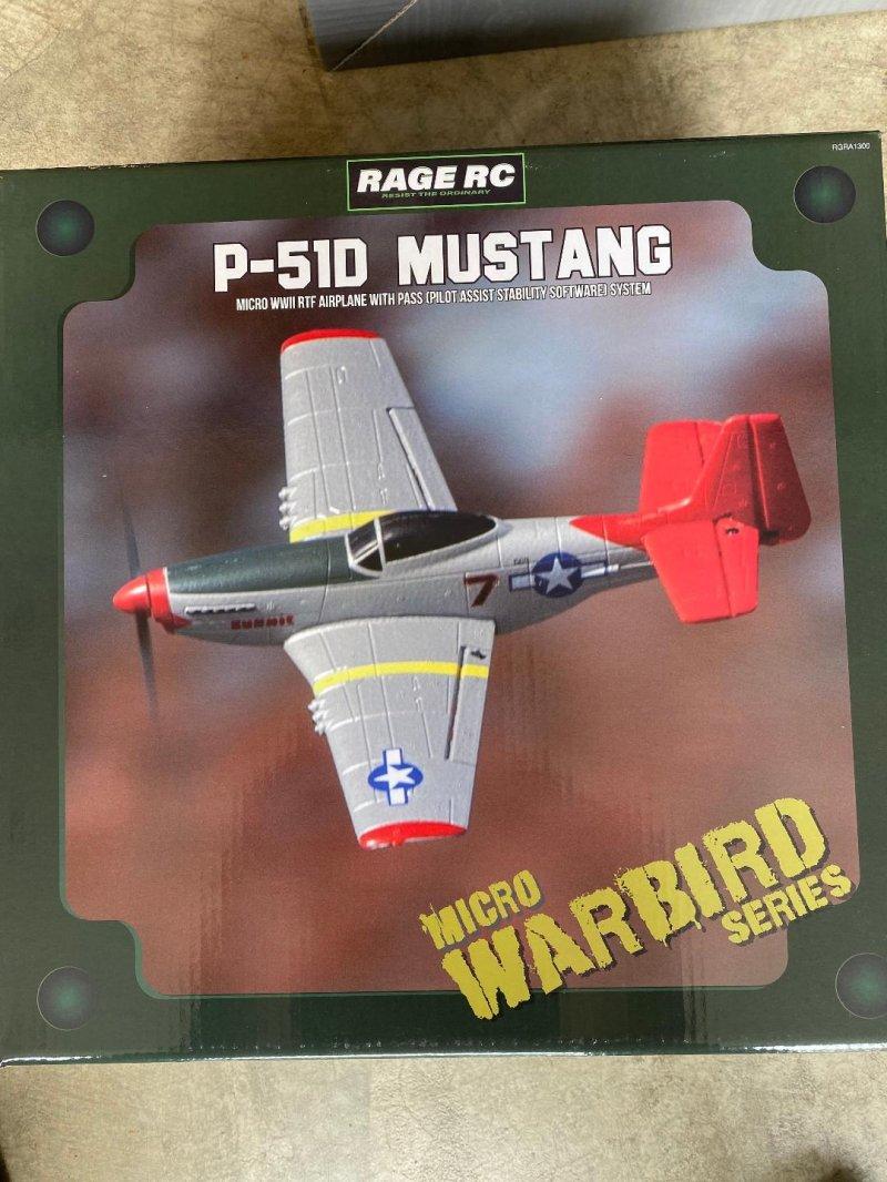 Image 0 of RAGE P-51D Mustang Micro RTF Airplane w/PASS